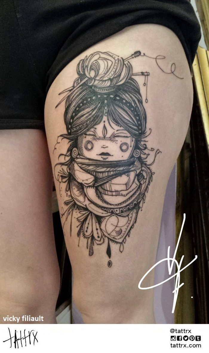 Vicky filiault tattoo montreal canada ink tattoo for Montreal tattoo artists