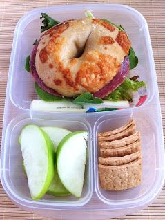 Operation: Lunch Box: Day 14 - Bagel Sandwich