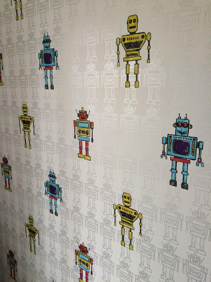 9 best rocket ship bedroom images on pinterest child for Robot bedroom