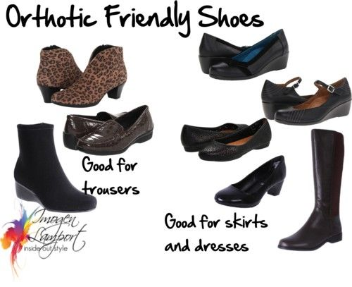 Shoes that work for keeping your feet comfy, stylish and also possibly orthotic friendly!