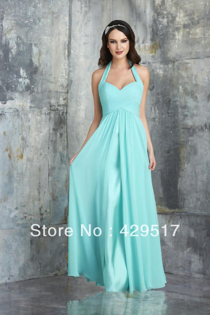 Country Style Prom Dress Mint Green Halter Abendkleider Junior Chiffon Party Bridesmaid Dresses Under 100 98 00 Skirts Pinterest