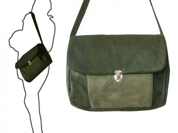 torby na ramię - damskie-Teczka zieleń zgaszona