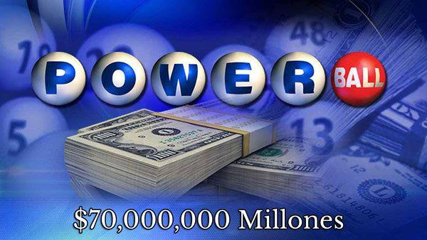 $70 Millones en Powerball para el sábado