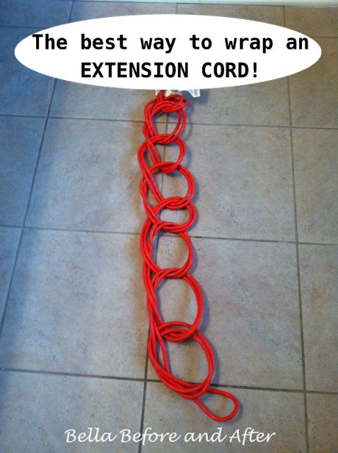OMG -- I just did this and its hands down the best way to store extension cords -- brilliant!