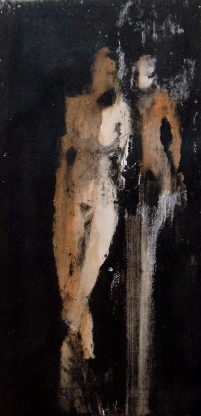 Empreintes (détail), monotypes encre   2011, Sylvie Thouron