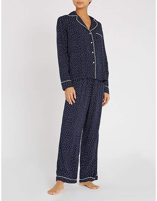Rails Heart-print jersey pyjama set  print Heart Rails  d050e12e365