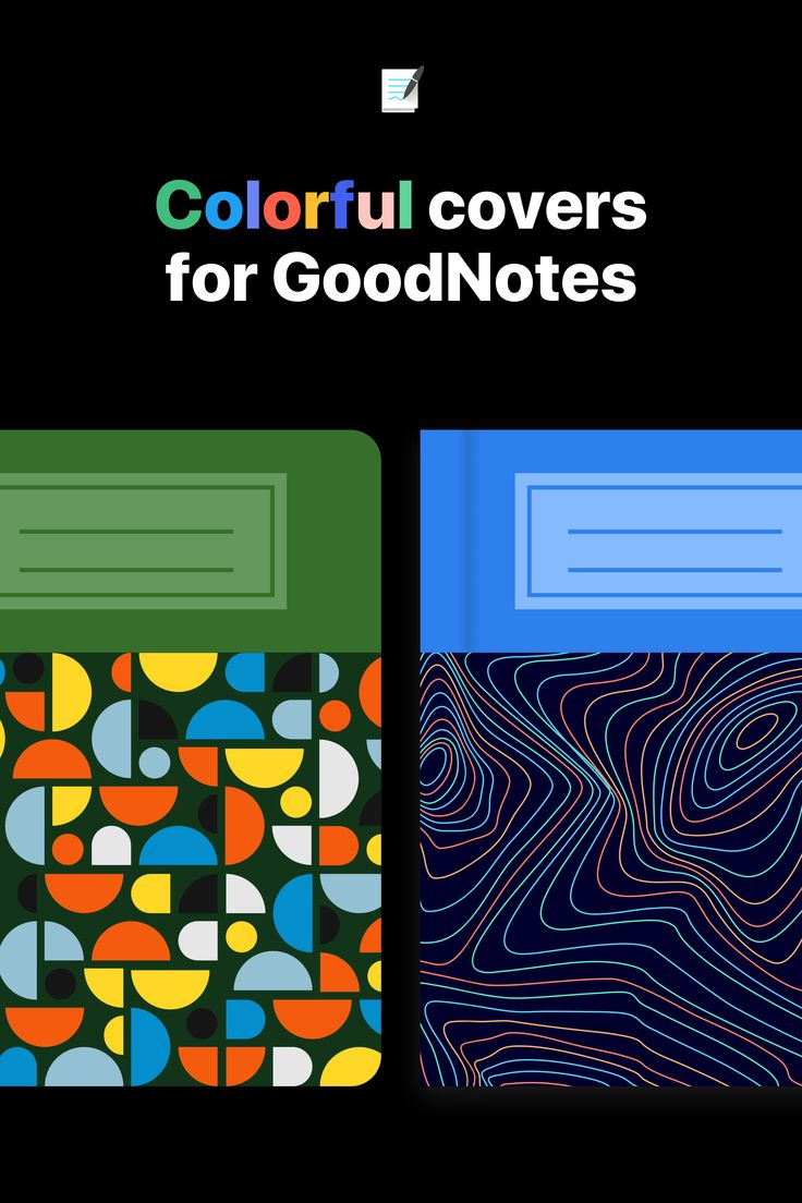 Covers for goodnotes address card templates digital