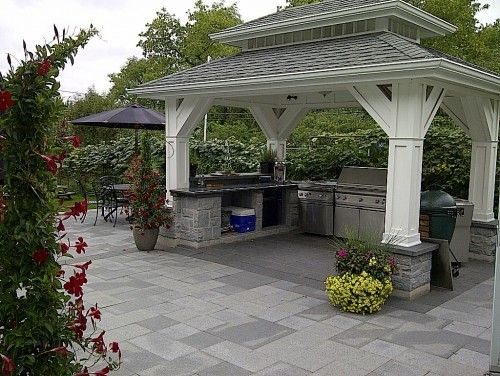Best 25 covered outdoor kitchens ideas on pinterest for Patio exterieur