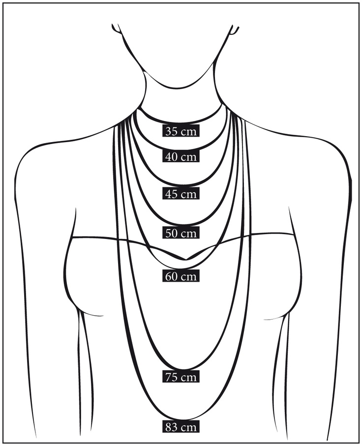 25  best ideas about necklace length chart on pinterest