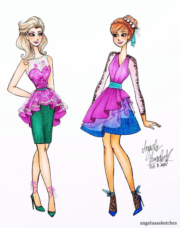 Frozen Fashion 2 by angelaaasketches on DeviantArt