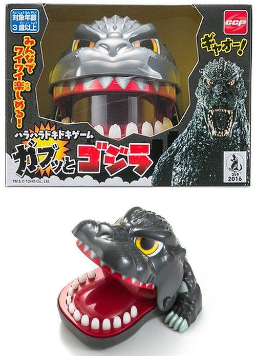 Hungry Hungry Godzilla Chomping Finger Godzilla Toy Game