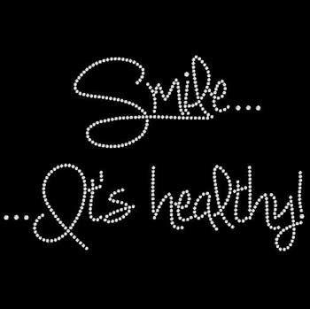 Smile...It's Healthy! Rhinestone TShirt Clothing,womens clothing, top &…