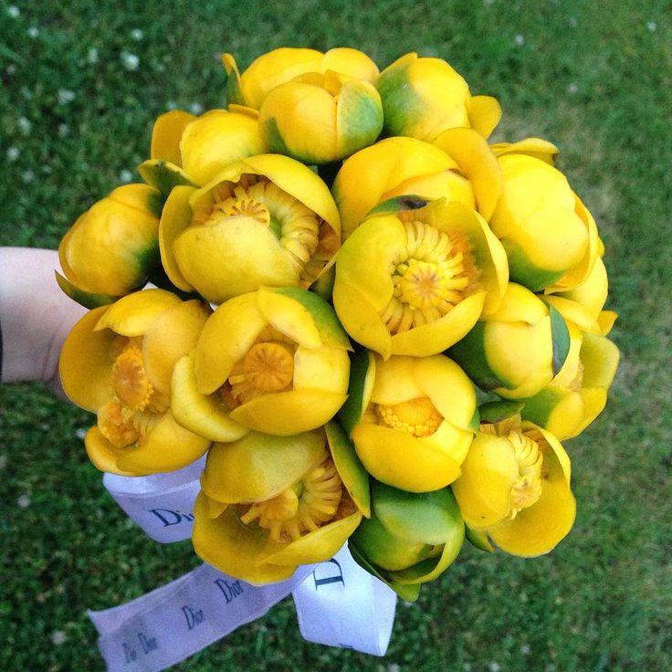 «Сумасшедший флорист всегда найдет цветы!!! И соберет букет на ходу!!! а главное, что мои сумасшедшие друзья умудрились нарвать эти чудо- цветы!!!…»