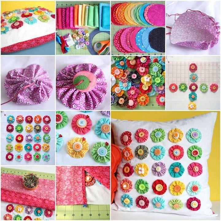 Yo Yo Pillow Craft | DIY Cozy Home http://www.favecrafts.com/Home-Decor/Yo-Yo-Pillow-from-Fiskars