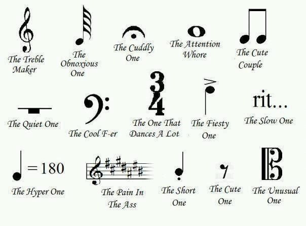 Music humor....