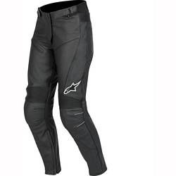 Alpinestars Leather Motorcycle Trousers Stella Bat Ladies Black - Click here to enlarge