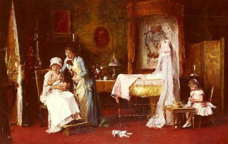 Munkácsy Mihály (1844-1900) - A baba látogatói