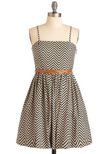 Zigzag stripe dress