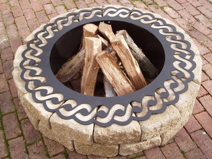 Decorative Rope Steel Fire Pit Ring
