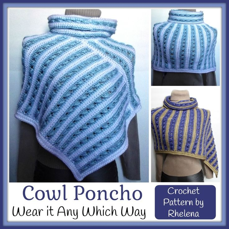Free Crochet Poncho Patterns Adults : FREE crochet pattern for a cowl poncho. The poncho is ...
