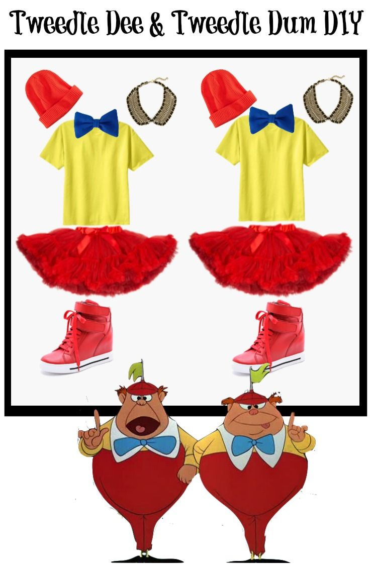 Last Minute DIY Tweedle Dee and Tweedle Dum Halloween Costume