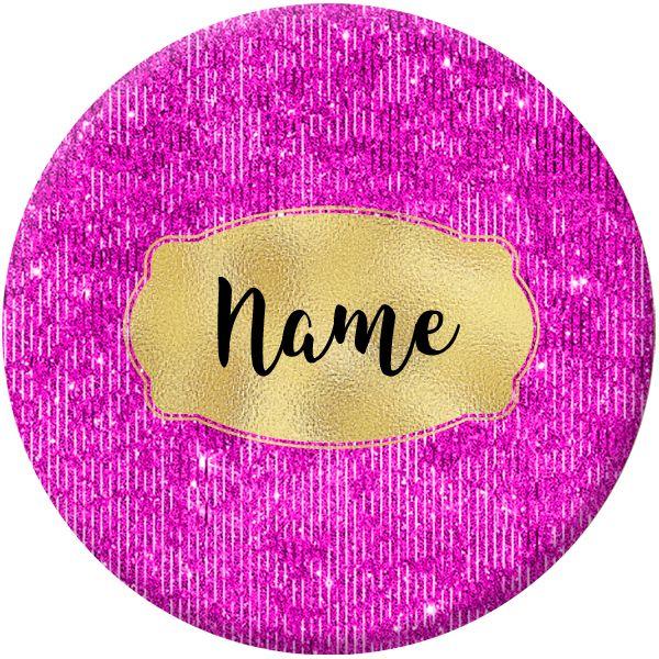 Glam Name Badges Designs #009 - 75mm