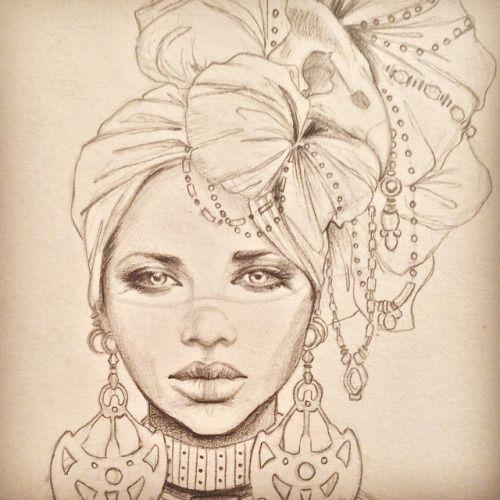 http://marisajimenezartist.tumblr.com/post/117364693964/art-illustration-drawing-draw-african-style