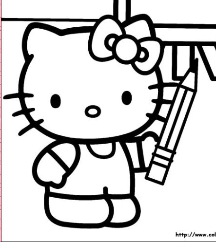 best hello kitty coloring pages - photo#42