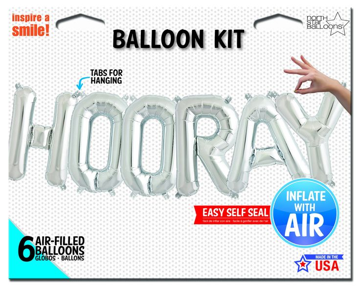 "Mylar ""HOORAY"" Balloon Kit"