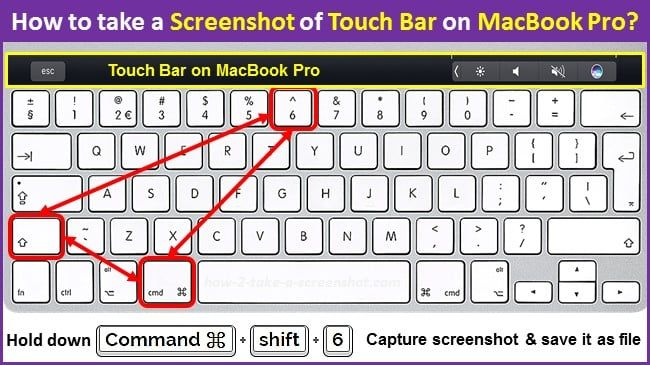 How To Take A Screenshot Of Touch Bar On Macbook Pro Macbook Pro Macbook Take A Screenshot