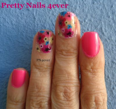 Pretty Nails 4ever - Unhas Cor de Rosa Decoradas com Flores - Pink Garden