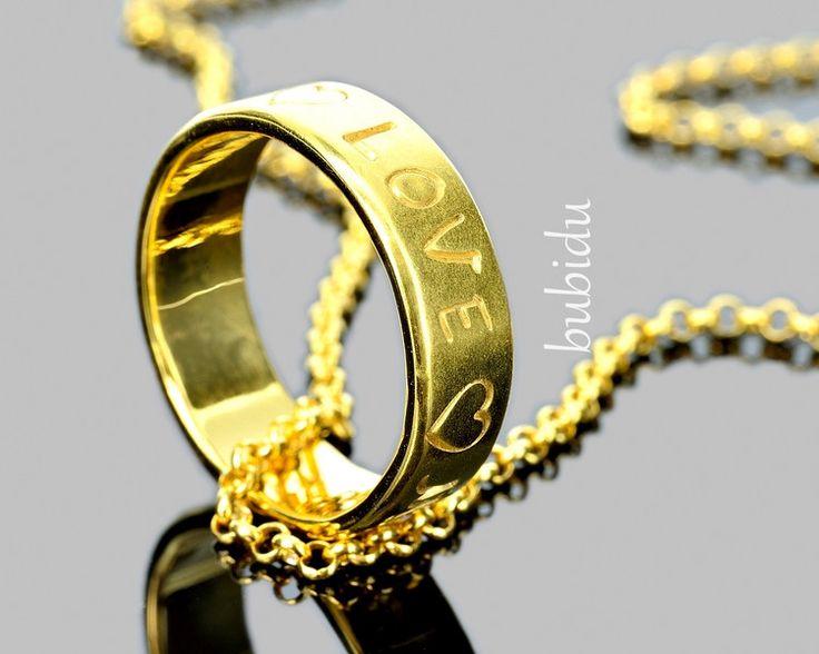 Namensketten - KETTE GRAVUR, RING NAMEN, GOLDSCHMUCK, RING ERSATZ - ein Designerstück von bubidu bei DaWanda