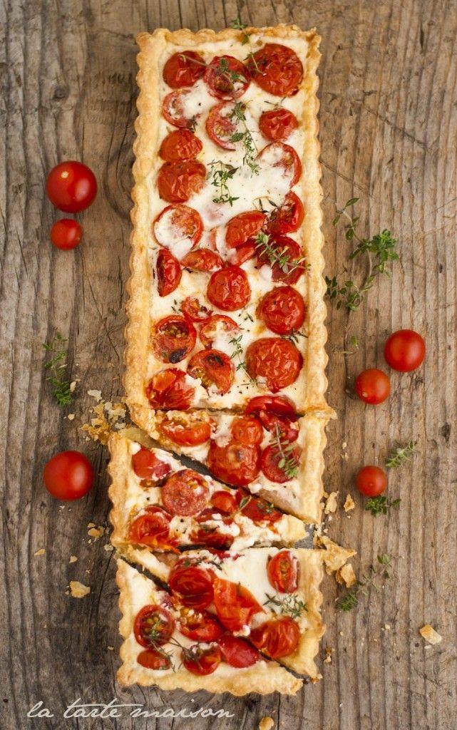 Crostata pomodori e squacquerone