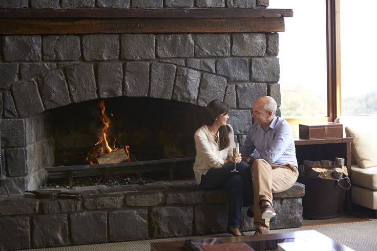 Relax by the fireplace at Spicers Peak Lodge