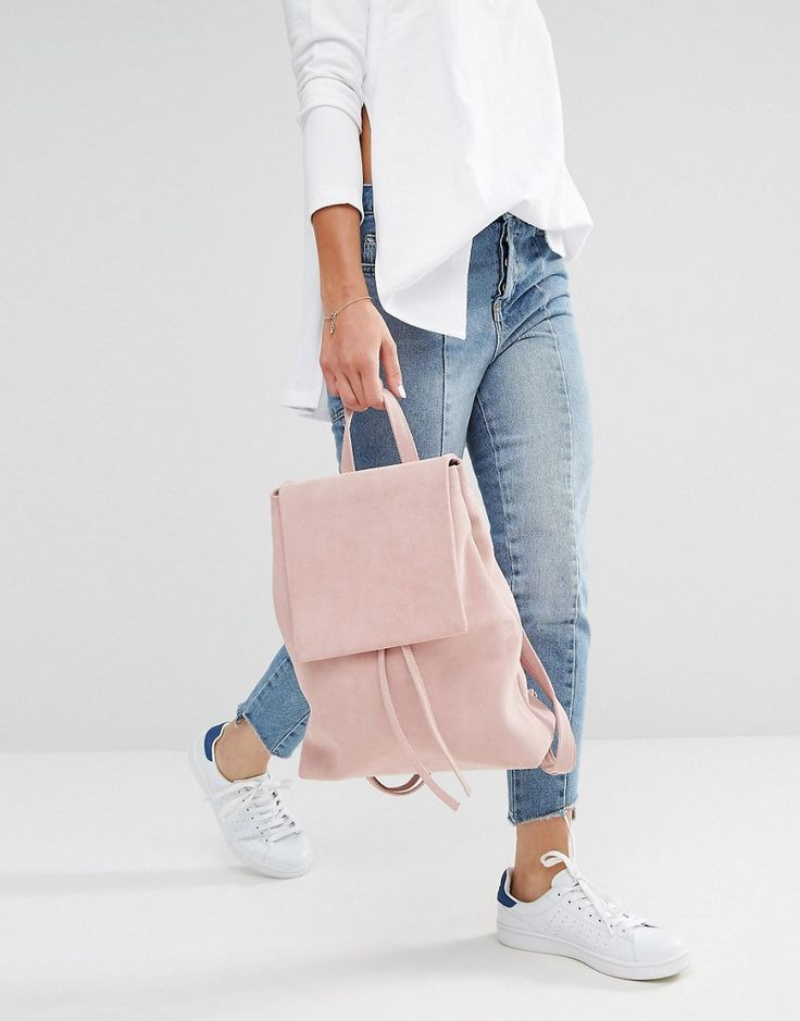 Boopack Boo Backpack in Pink Suede