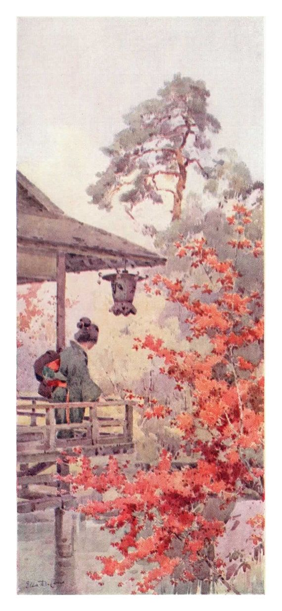 1908 Vintage Colour Book Plate Print Viewing the by RizSilverthorn, £11.99