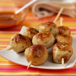 Chicken and Apple Balls with BBQ Sauce by food-4tots: A great kid friendly party food. #Chicken_Balls