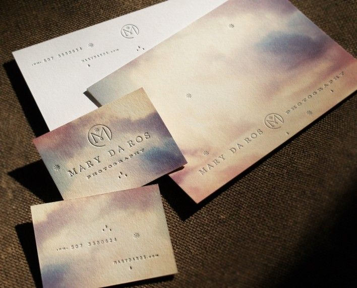 Really epic letterpress collateral pieces for a Photographer by FUNNEL (Eric Kass)