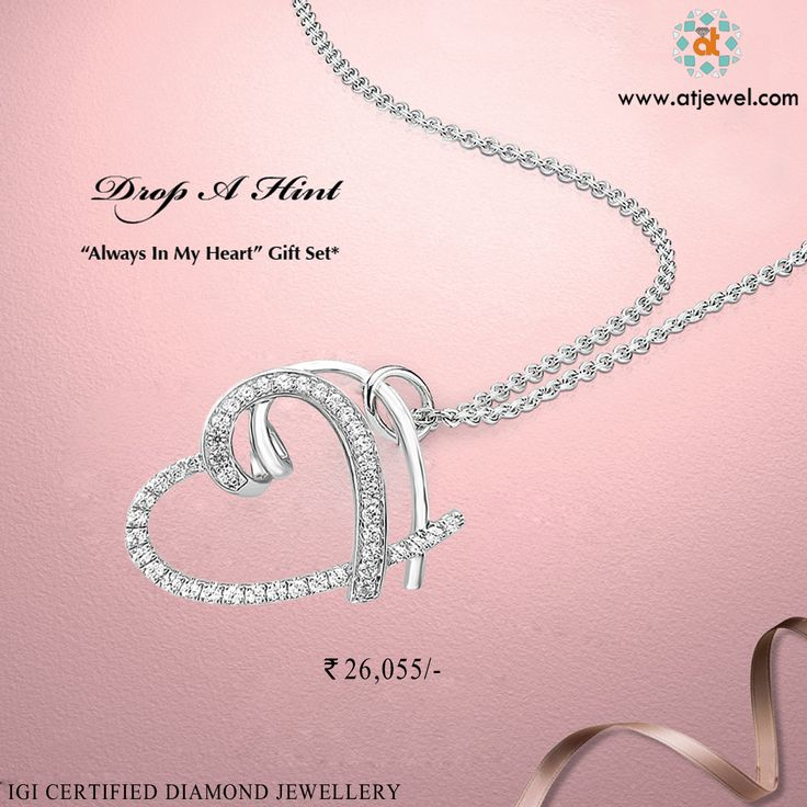 Design Of The Day....... Buy a Beautiful Gift For a Beautiful Moment Of Your Life. #Atjewel #Diamond #Pendant #Gold #HeartCollection http://bit.ly/28RmLzs