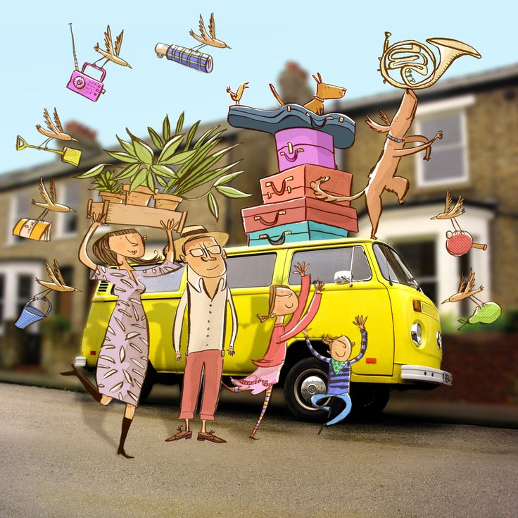 moving house illustration by Adam Larkum
