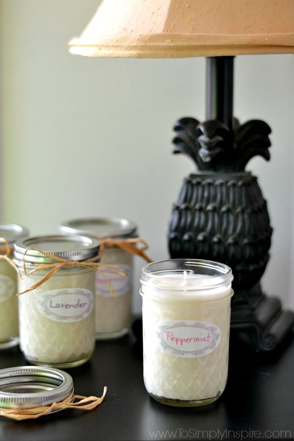 Make your own scented soy candles! Wouldn't these be great gifts!