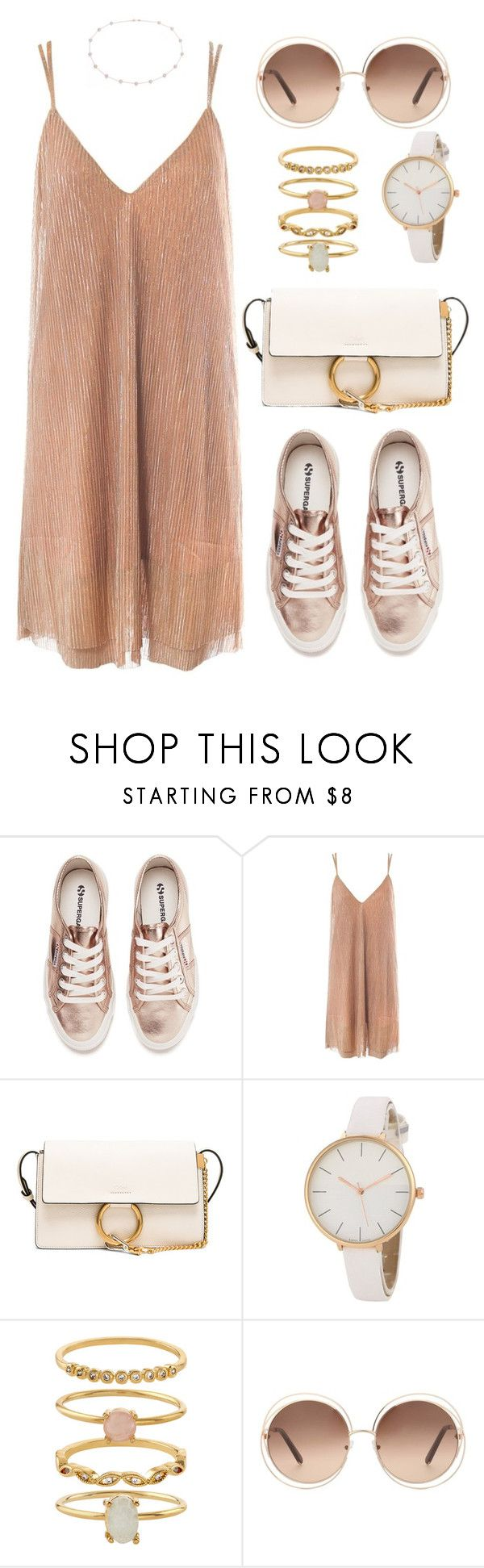 """""""When the roses are gold"""" by indirareeves on Polyvore featuring Superga, Sans Souci, Chloé, Accessorize and Blue Nile"""