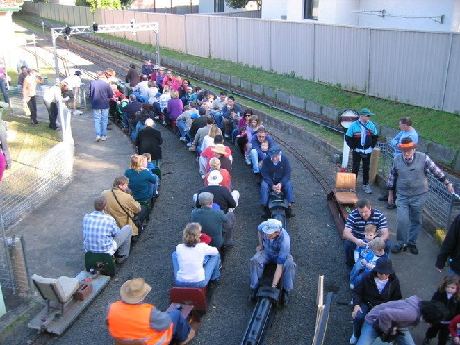 Miniature Steam Train Rides with Sydney Live Steam Locomotive Society #WestRyde #RydeLocal #Train #CityofRyde