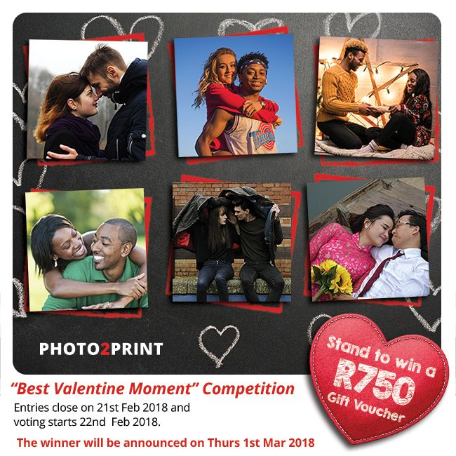 """Enter our Facebook  """"Best Valentine Moment"""" Photo Competition. https://contest.fbapp.io/best-valentine-moment Upload your favourite Valentine photo on our Facebook contest page.     Entries close on 21st Feb 2018 and voting starts 22nd Feb 2018. #sendthosepics #beawinner #greatprize"""
