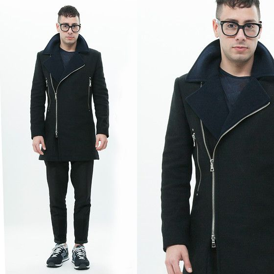 Topman Coat, Zara Shirt, Zara Pants, New Balance Sneakers, Tom Ford Glasses