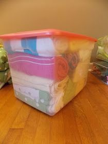 I like the linens in tubs; keeps them clean and together. The Cultivated Mother: The PCS Files: Unaccompanied Baggage