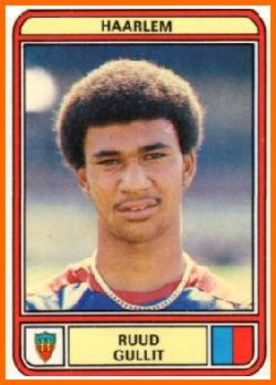 Ruud Gullit panini at his first club: Haarlem