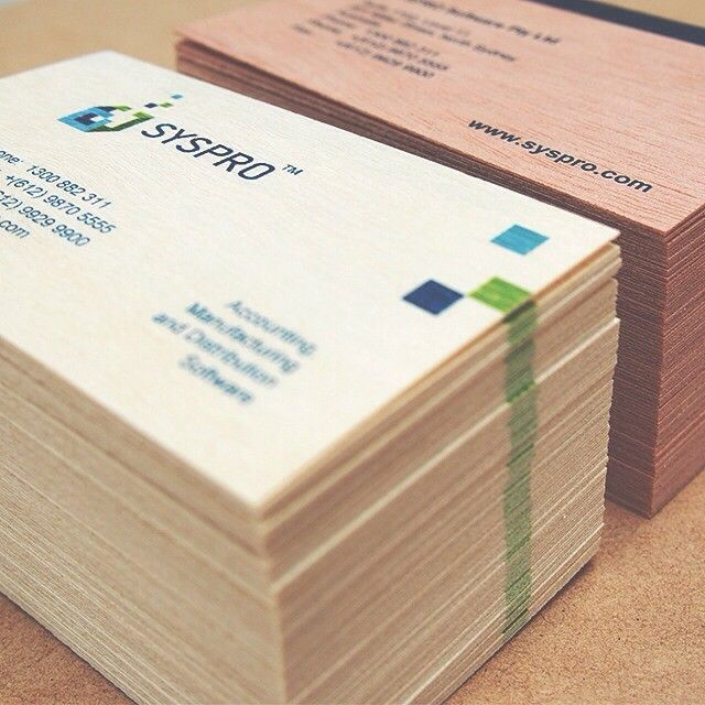 Just finished these incredible business cards from Syspro! On both #mahoganywood & #birchwood