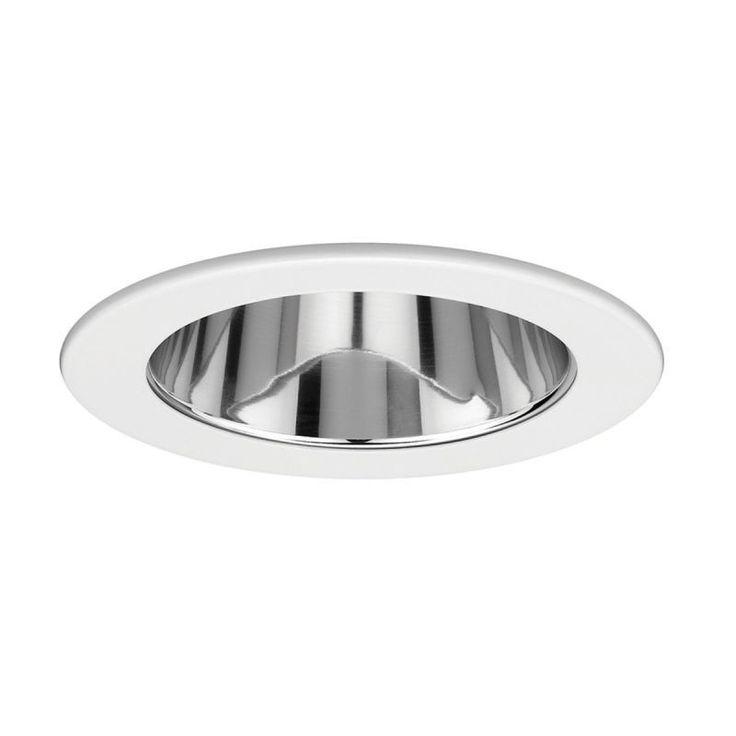 "WAC Lighting R-421 4"" Line Voltage Recessed Light Reflector Trim Clear/White Recessed Lights Recessed Trims Reflector Trims"