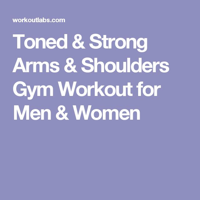 Toned & Strong Arms & Shoulders Gym Workout for Men & Women